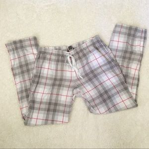 Eddie Bauer Sleep Pants Gray Pink M Madras Comfy